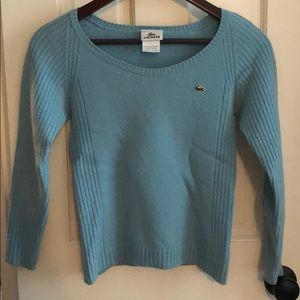Ladies Lacoste petite light blue sweater